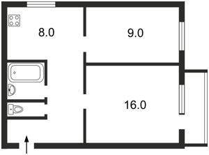 Квартира Гусовского Сергея, 4, Киев, A-89858 - Фото 2