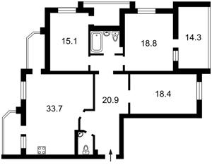 Квартира Бориспольская, 12в, Киев, Z-876497 - Фото2