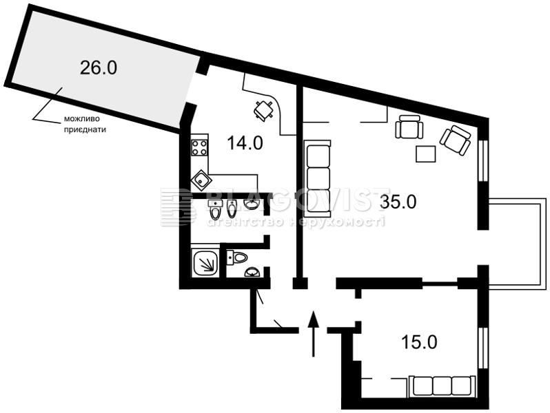 Квартира E-29100, Владимирская, 5, Киев - Фото 3
