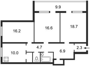 Квартира Челябінська, 9б, Київ, Z-957423 - Фото 2