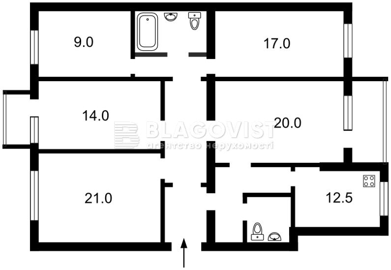 Квартира F-13642, Мазепи Івана (Січневого Повстання), 18/29, Київ - Фото 4