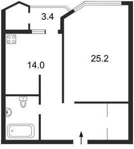 Квартира Кудряшова, 16, Киев, P-2204 - Фото2