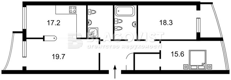 Квартира E-32578, Парково-Сырецкая (Шамрыло Тимофея), 4в, Киев - Фото 6