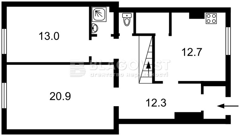 Квартира Q-313, Пушкина, 16б, Гостомель - Фото 2