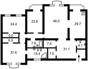 Квартира Паторжинского, 14, Киев, X-7565 - Фото2