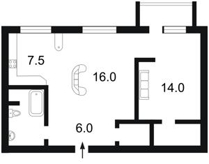 Квартира Дарвіна, 1, Київ, Z-1446443 - Фото2