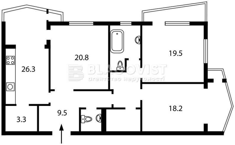 Квартира O-14484, Сечевых Стрельцов (Артема), 52а, Киев - Фото 4