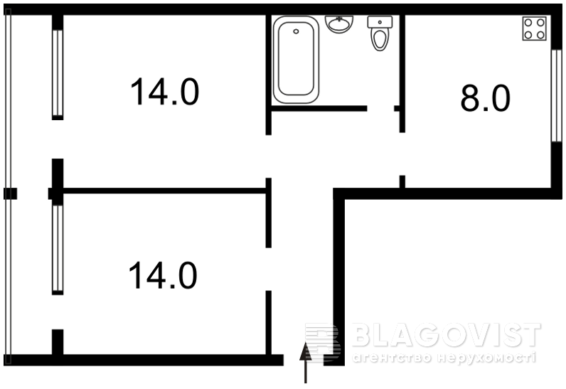 Квартира Z-798289, Бышевский пер., 9, Киев - Фото 2