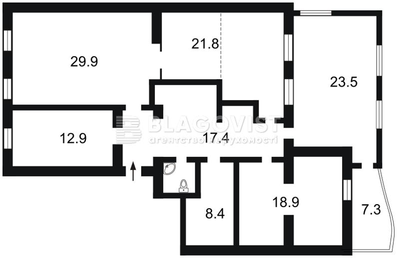 Нежитлове приміщення, H-25284, Музейний пров., Київ - Фото 3