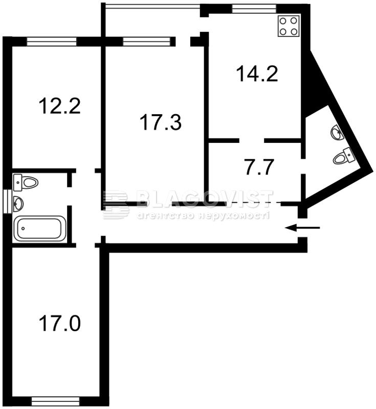 Квартира Z-712417, Лісківська, 30, Київ - Фото 3