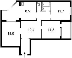 Квартира Пушиной Феодоры, 44/50, Киев, Z-1465968 - Фото2