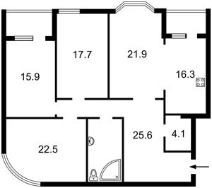 Квартира Руданского Степана, 4-6, Киев, Z-1449169 - Фото2