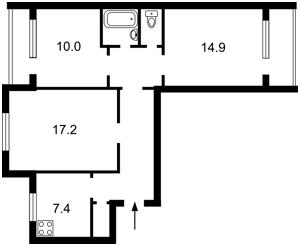 Квартира Тростянецкая, 53, Киев, M-24084 - Фото2