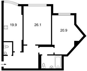 Квартира Срібнокільська, 1, Київ, J-13618 - Фото2