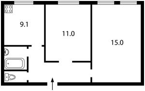 Квартира Большая Житомирская, 6/11, Киев, Z-609771 - Фото 2