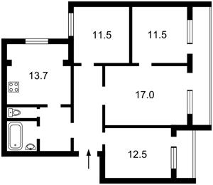 Квартира Миропільська, 37, Київ, Z-775211 - Фото2