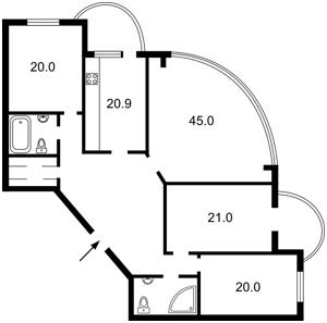 Квартира Старонаводницкая, 13а, Киев, J-11086 - Фото2