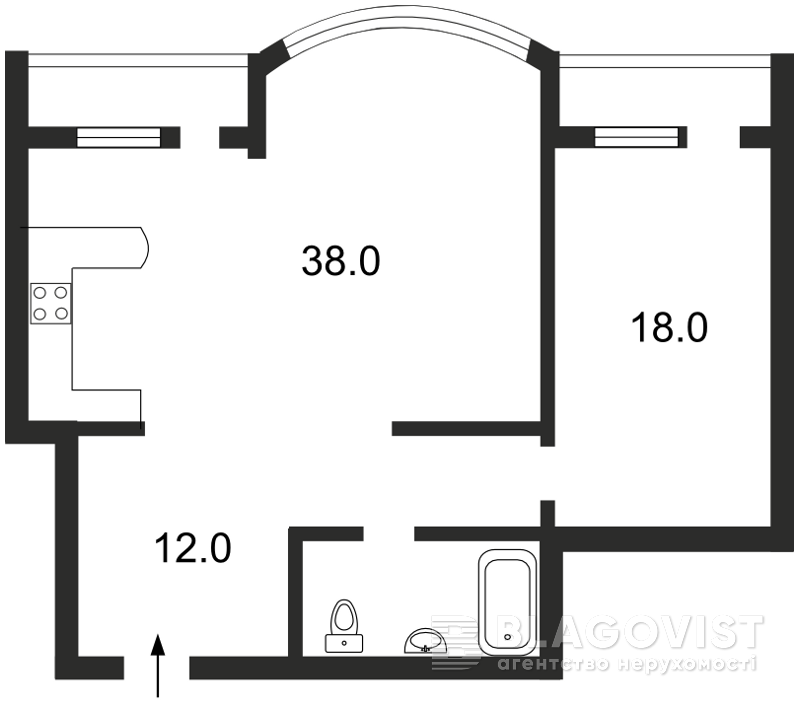 Квартира A-77508, Ахматовой, 18, Киев - Фото 4