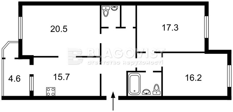 Квартира C-93662, Харьковское шоссе, 58б, Киев - Фото 6