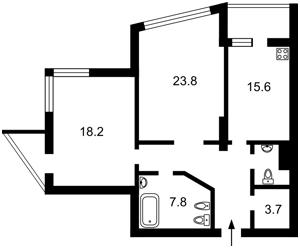 Квартира Ушакова Николая, 1б, Киев, Z-1473539 - Фото2