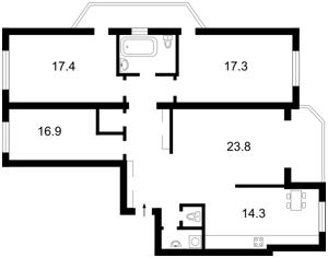 Квартира Курбаса Леся (50-річчя Жовтня) просп., 7а, Київ, E-24312 - Фото 2