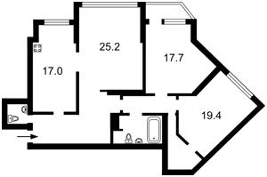 Квартира Срибнокильская, 1, Киев, Z-1537557 - Фото2