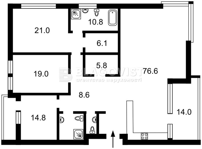 Квартира M-25018, Мічуріна пров., 28, Київ - Фото 2