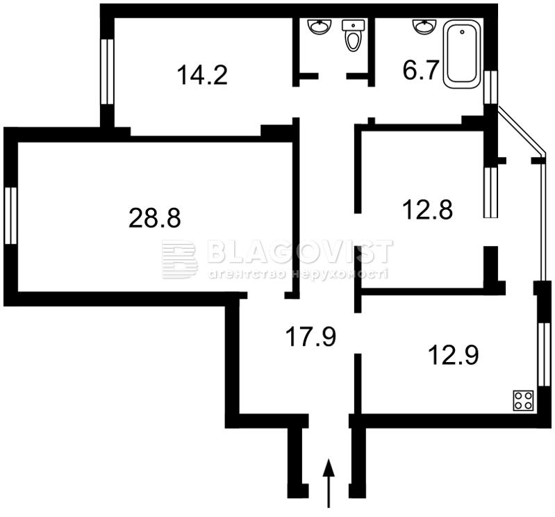 Квартира D-28780, Здолбуновская, 3г, Киев - Фото 4