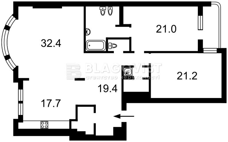 Квартира O-25559, Назаровская (Ветрова Бориса), 11, Киев - Фото 5