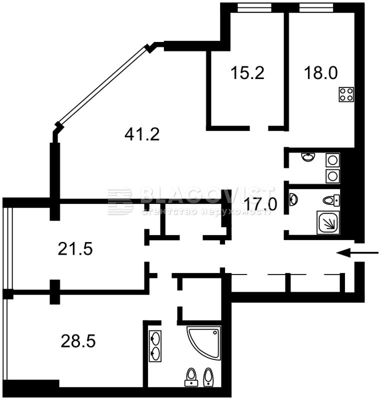 Квартира M-16763, Большая Васильковская, 72, Киев - Фото 4