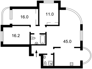 Квартира Московская, 46/2, Киев, Z-1521301 - Фото2