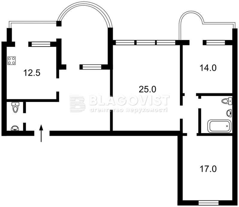 Квартира Z-1410787, Котельникова Михаила, 37, Киев - Фото 4