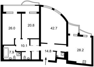 Квартира Мельникова, 18б, Киев, X-15187 - Фото 2