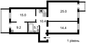 Квартира Петлюры Симона (Коминтерна), 6, Киев, A-103352 - Фото2