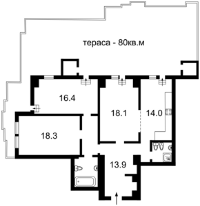 Квартира Панаса Мирного, 17, Київ, Z-1812733 - Фото2