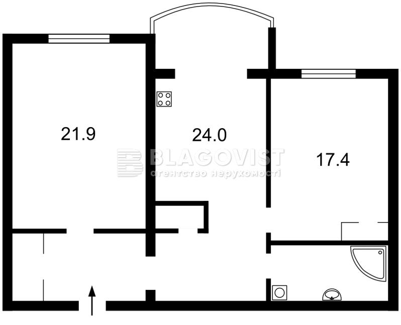 Квартира P-855, Героев Сталинграда просп., 10а, Киев - Фото 5