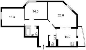 Квартира Гришко Михаила, 9, Киев, Z-893252 - Фото2