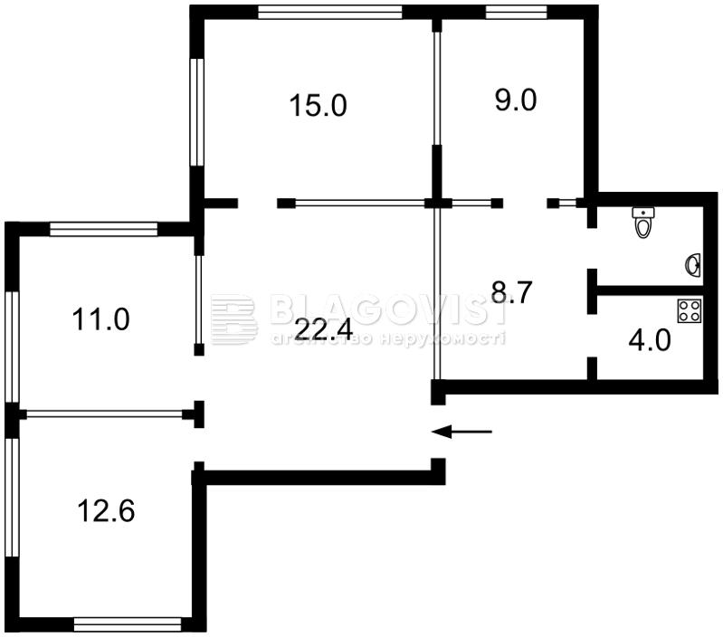 Квартира H-34114, Лобановского просп. (Краснозвездный просп.), 6д, Киев - Фото 4