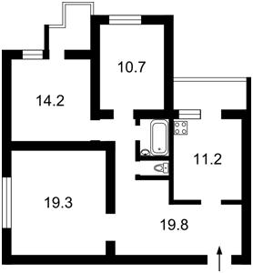 Apartment Maiakovskoho Volodymyra avenue, 97/15, Kyiv, Z-1734586 - Photo2
