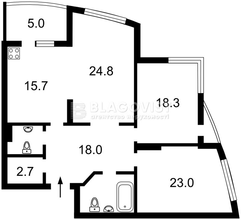 Квартира R-23173, Ушакова Николая, 1б, Киев - Фото 3