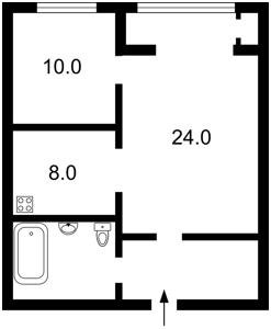 Apartment Saksahanskoho, 121, Kyiv, F-32708 - Photo2
