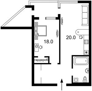 Квартира Коновальца Евгения (Щорса), 32в, Киев, F-12559 - Фото2