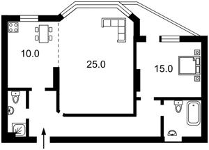 Квартира Микільсько-Слобідська, 1а, Київ, Z-1531297 - Фото2