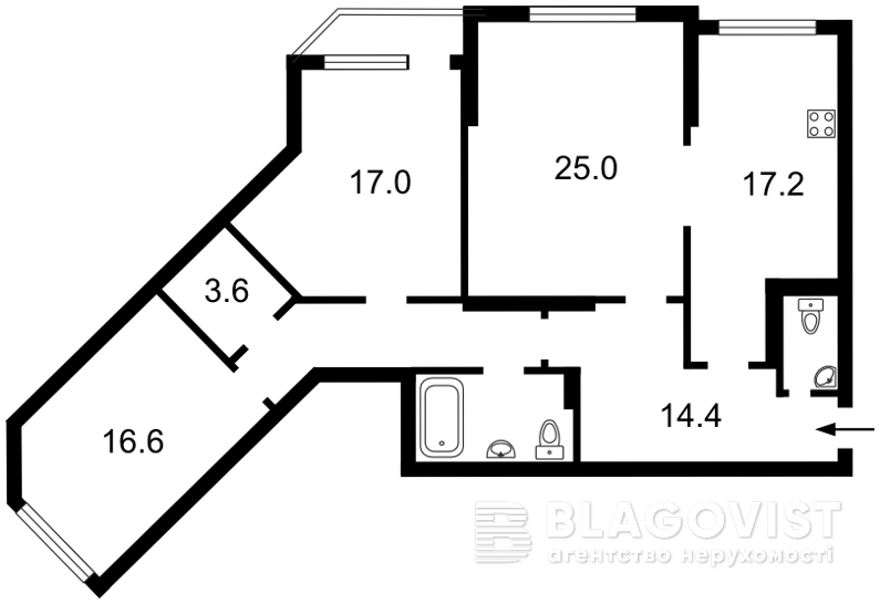 Квартира X-18964, Княжий Затон, 21, Киев - Фото 6