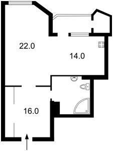 Квартира Кудряшова, 20г, Киев, X-19348 - Фото2