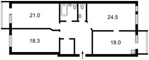 Квартира Коновальца Евгения (Щорса), 36в, Киев, X-13628 - Фото2