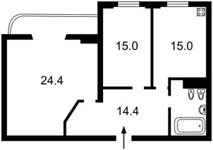 Квартира Татарська, 7, Київ, Z-1579903 - Фото 2