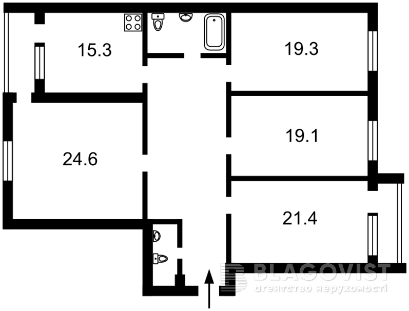 Квартира Z-1032055, Тимошенко Маршала, 21 корпус 7, Киев - Фото 3