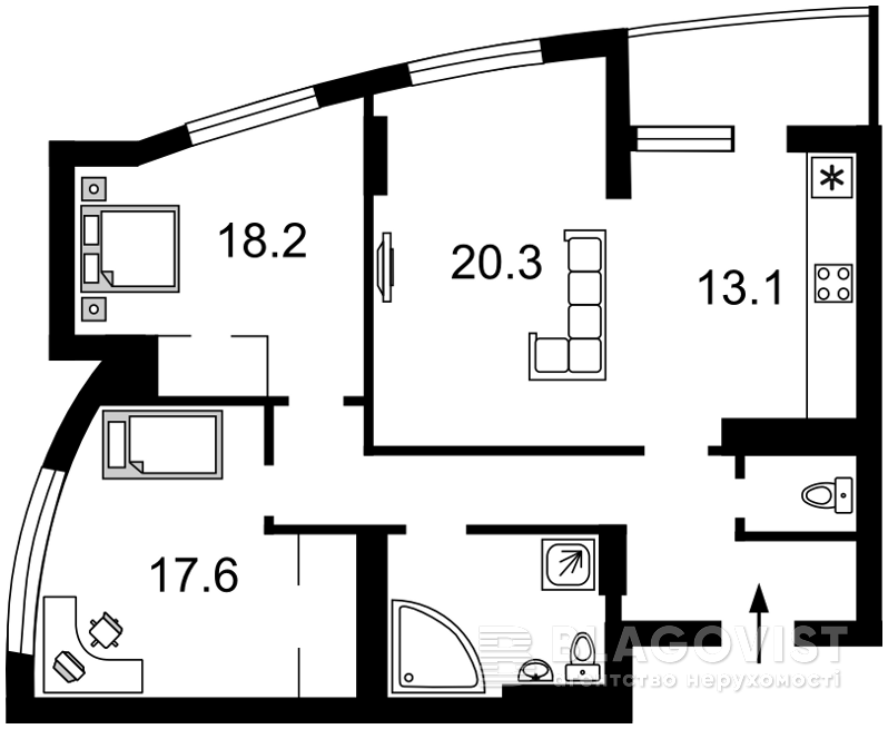 Квартира F-33934, Победы просп., 121б, Киев - Фото 4