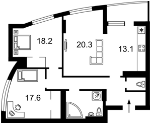 Квартира Победы просп., 121б, Киев, F-33934 - Фото 2